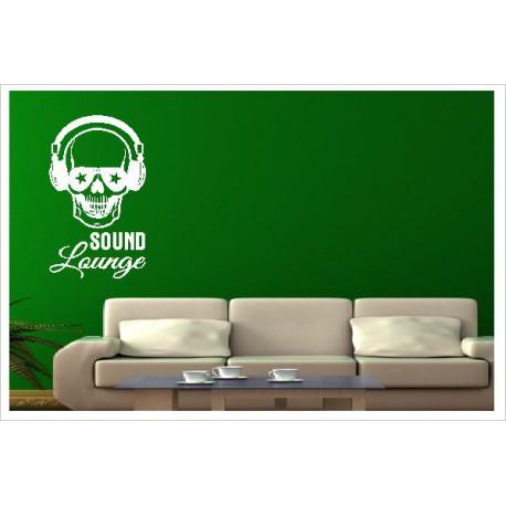Wandaufkleber  SOUND Musik Music Skull ROCK 175