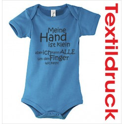 "Babybody Body Spruch Text ""meine Hand.."" 01"
