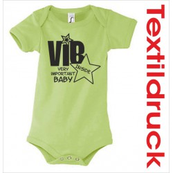"Babybody Body Spruch Text ""VIB"" very important baby"