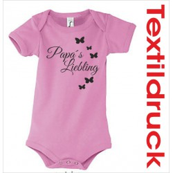 "Babybody Body Spruch Text ""Papa´s Liebling"""