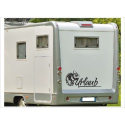 Aufkleber Wohnmobil Wohnwagen Dekor Gecko URLAUB 8