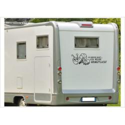 Aufkleber Wohnmobil Wohnwagen Raupe Reise gemütlich 10