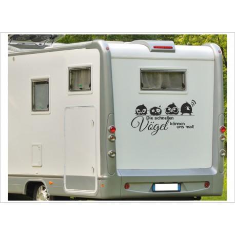 Aufkleber Wohnmobil Wohnwagen Der schnelle VOGEL 13