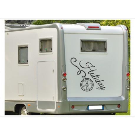 Aufkleber Wohnmobil Wohnwagen Kompass Windrose Holiday 14 Der Dekor Aufkleber Shop