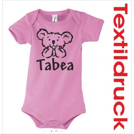 Babybody Body Spruch Text Koala Bär Teddy + Wunschname 32