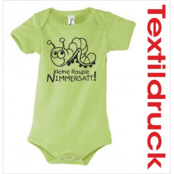 Babybody Body Spruch Text Raupe Nimmersatt + 33