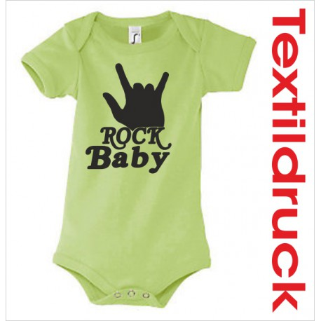 Babybody Body Spruch Text ROCK BABY 36