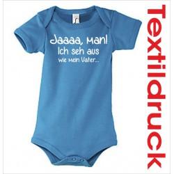 Babybody Body Spruch Text Ja, man!  40