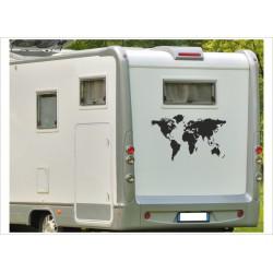 Aufkleber Wohnmobil Wohnwagen Dekor Weltkarte 15