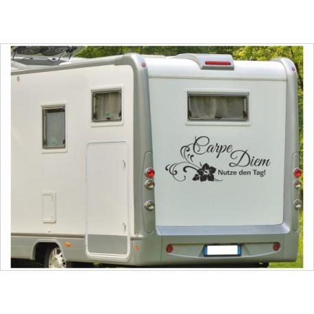 Aufkleber Wohnmobil Wohnwagen Dekor Carpe Diem 22