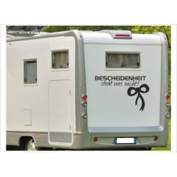 Aufkleber Wohnmobil Wohnwagen Dekor Bescheidenheit 24