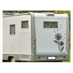 Aufkleber Wohnmobil Wohnwagen Dekor 25 Pusteblume Löwenzahn
