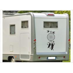 Aufkleber Wohnmobil Wohnwagen Dekor Feder Traumfänger 31