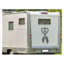 Aufkleber Wohnmobil Wohnwagen Dekor Traumfänger Feder 32