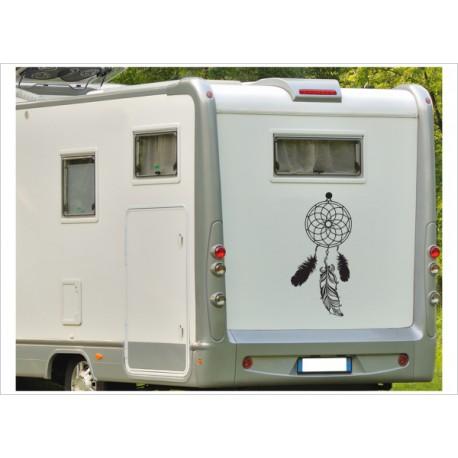 Aufkleber Wohnmobil Wohnwagen Dekor Traumfänger Feder 33