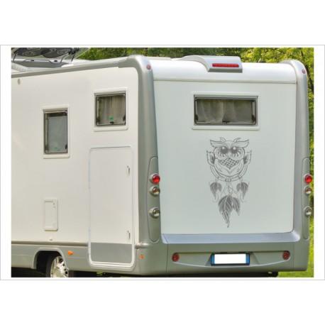 Aufkleber Wohnmobil Wohnwagen Dekor Eule Traumfänger 34 Feder