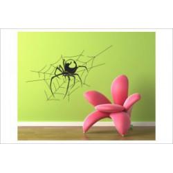 Spinne Spider Netz Tattoo Sticker Aufkleber Wandtattoo Wandaufkleber