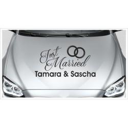 Just Married HOCHZEIT Herz + Wunschnamen Ehe Liebe Romantik 41