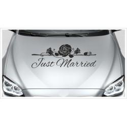 Just Married HOCHZEIT Herz Rosen Tulpe Ehe Liebe Romantik 43