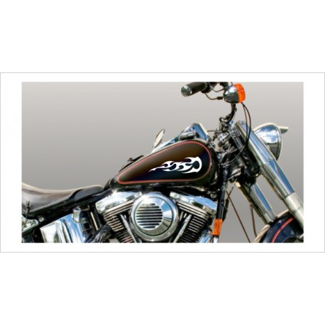 Motorrad Aufkleber Sticker Tattoo Bike Chopper Tribal 10 Flame