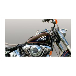 Motorrad Aufkleber Sticker Tattoo Bike Chopper Tribal 11 Flame