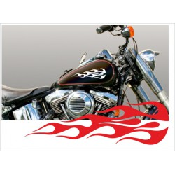 Motorrad Aufkleber Sticker Tattoo Bike Chopper Tribal 12 Flame