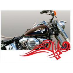 Motorrad Aufkleber Sticker Tattoo Bike Chopper Tribal 13 Flame