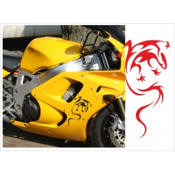 Motorrad Aufkleber Sticker Tattoo Bike Chopper Tribal 19 Gecko Echse