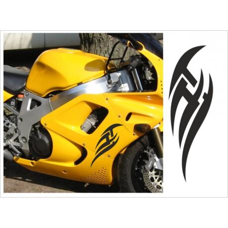 Motorrad Aufkleber Sticker Tattoo Bike Chopper Tribal 21