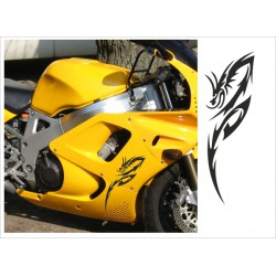Motorrad Aufkleber Sticker Tattoo Bike Chopper Tribal 23 Drache Dragon