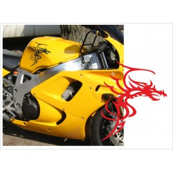 Motorrad Aufkleber Sticker Tattoo Bike Chopper Tribal 24 Drache Dragon