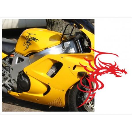Motorrad Aufkleber Sticker Tattoo Bike Chopper Tribal 24 Drache Dragon