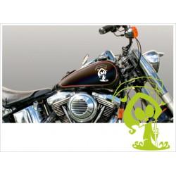 Motorrad Aufkleber Sticker Tattoo Bike Chopper Tribal 49 Sensenmann Sense