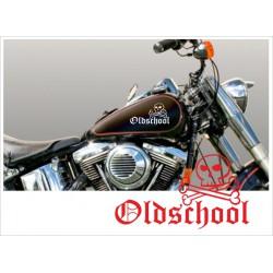 Motorrad Aufkleber Sticker Tattoo Bike Chopper Tribal 51 Old School Skull
