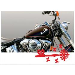 Motorrad Aufkleber Sticker Tattoo Bike Chopper Tribal 54 Key Schlüssel