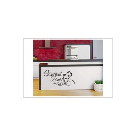 Gourmet Zone Wandaufkleber Wandtattoo Aufkleber Küche Essen Genießen Kochen