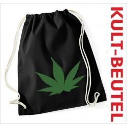 Turnbeutel Rucksack KULT Kinder Gym Sport Tasche Spruch Hanf Cannabis