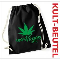 Turnbeutel Rucksack KULT Kinder Gym Sport Tasche Spruch Hanf Cannabis 100% Vegan