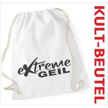 Turnbeutel Rucksack KULT Kinder Gym Sport Tasche Spruch Extreme GEIL