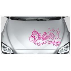 Einhorn Power Pups Aufkleber Motorhaube Unicorn Star