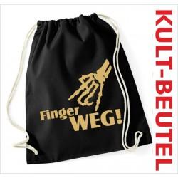 Turnbeutel Rucksack KULT Kinder Gym Sport Tasche Spruch Finger WEG Bones Knochen
