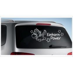 Einhorn Pony Pferd Power Pups Aufkleber Auto Lack/Glas Unicorn Sternenstaub