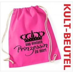 Turnbeutel Rucksack KULT Kinder Gym Sport Tasche Spruch Krone Prinzessin GIRL