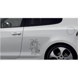 Einhorn Pony Pferd Power Pups Aufkleber SET Auto Lack/Glas Unicorn Paar Wolke Love Liebe
