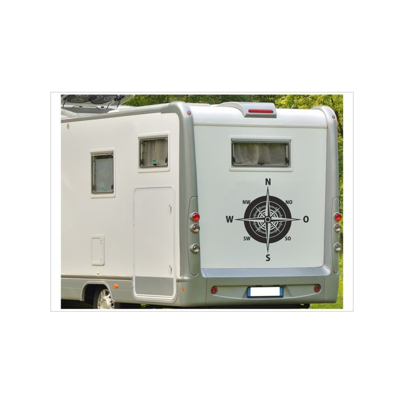 Wohnmobil Aufkleber Woma Wohnwagen Caravan Camper Woma Kompass Windrose Wegweiser Der Dekor Aufkleber Shop