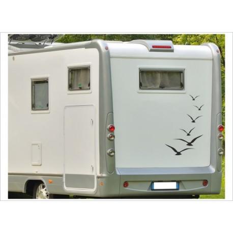 Wohnmobil Wohnwagen Caravan Camper Woma Aufkleber SET Möven Vögel 6x Vogel