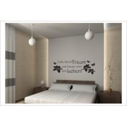 Lebe deine Traum Glaube Träume Wandaufkleber Wandtattoo Aufkleber Wand Tattoo Schlafzimmer