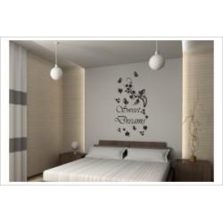 Sweet Dreams Gute Nacht Süße Träume Wandaufkleber Wandtattoo Aufkleber Wand Tattoo Schlafzimmer