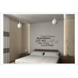 Schlaf Gut Sweet Dreams Süße Träume Dekor Wandaufkleber Wandtattoo Aufkleber Wand Tattoo Schlafzimmer