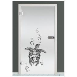 Glas Dekor Aufkleber Schildkröte Wasser Meer Tribal Tattoo Fenster, Lack & Glas